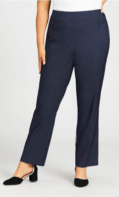 Super Stretch Zip Pant Indigo - tall