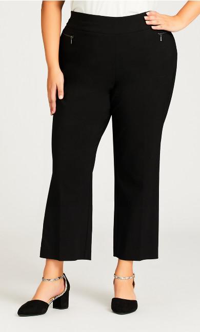 Super Stretch Zip Pant Black - petite