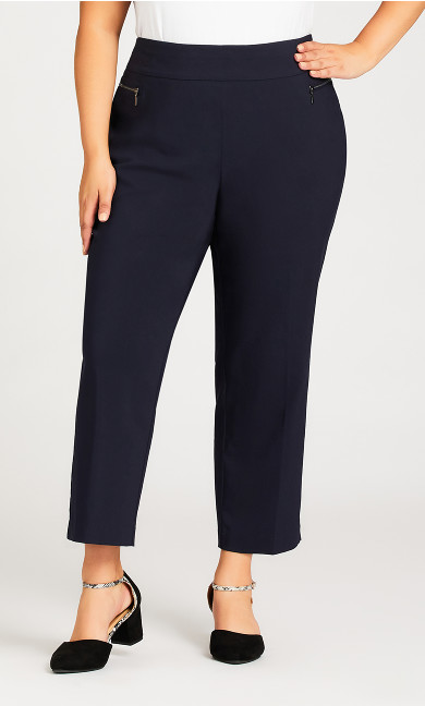 Super Stretch Zip Pant Navy - petite