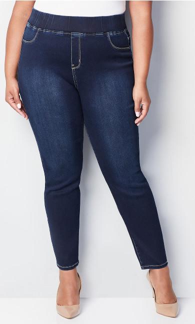 Butter Denim Pull-On Skinny Jean Dark Wash - tall
