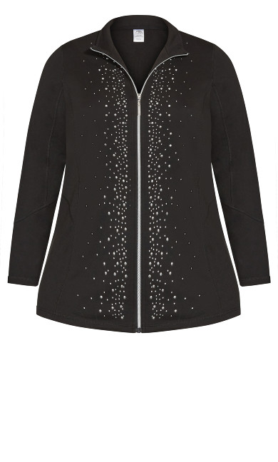 Stud Front Jacket - black