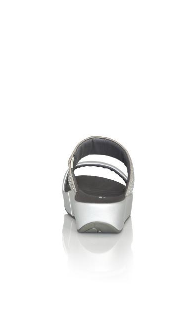 Shayna Sparkle Slide - silver