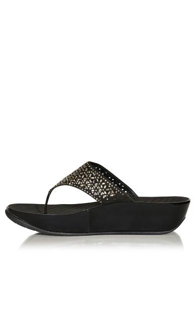 Nala Thong Sandal - black