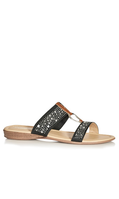 Plus Size Zelda Slide - black