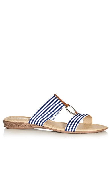 Plus Size Zelda Slide - stripe