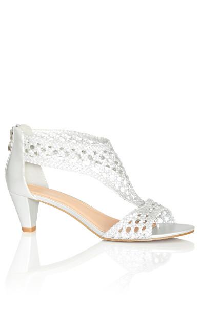 Plus Size Carina Dressy Sandal - silver