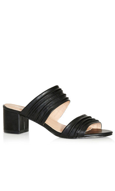 Plus Size Vida Pleated Slide - black
