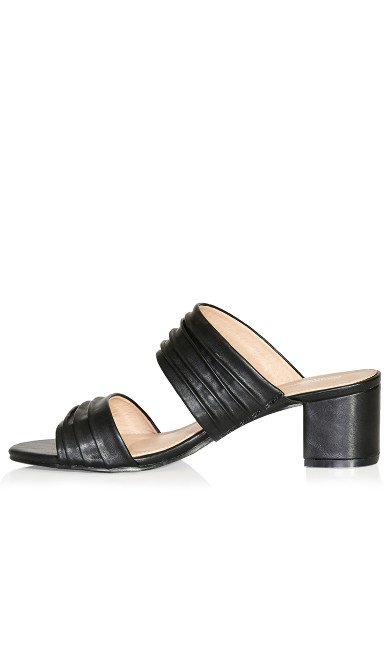 Vida Pleated Slide - black