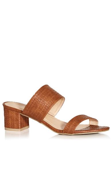 Plus Size Caroline Slide - brown