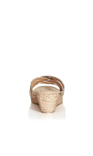 Darlene Cross Wedge - rose gold