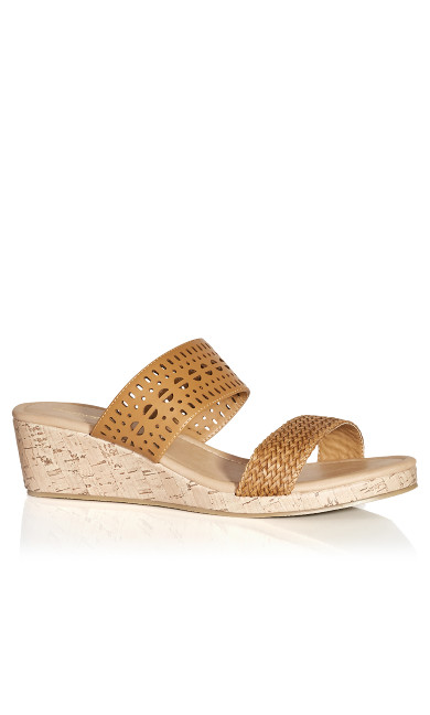 Plus Size Joy Slide Sandal - tan