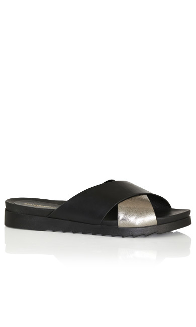 Norah Cross Slide - black