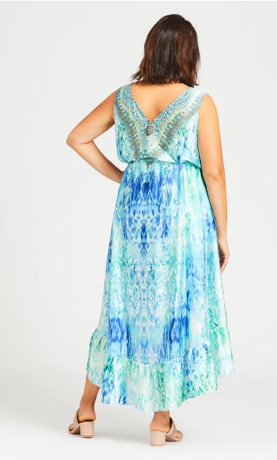 Hi-low Beaded Dress - aqua