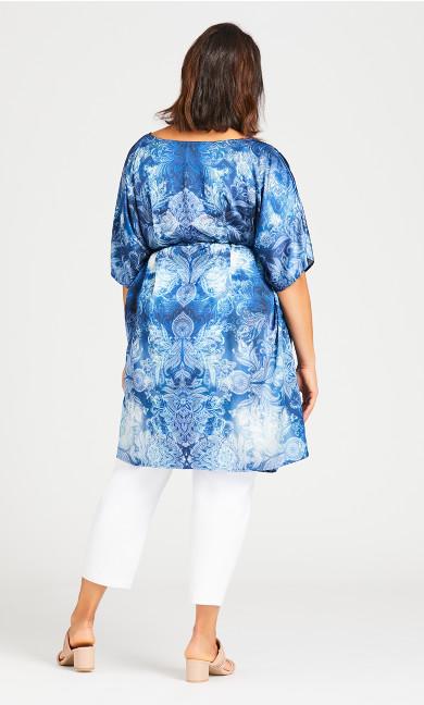 Kaftan Bead Dress - blue
