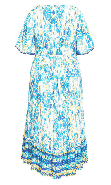 Skye Tiered Maxi Dress - aqua