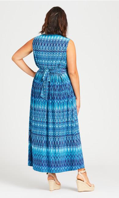 Lani Twist Front Maxi Dress - blue