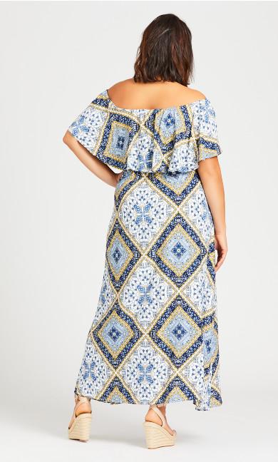 Off Shoulder Maxi Dress - ivory