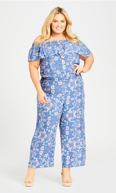 Plus Size Olivia Jumpsuit - blue