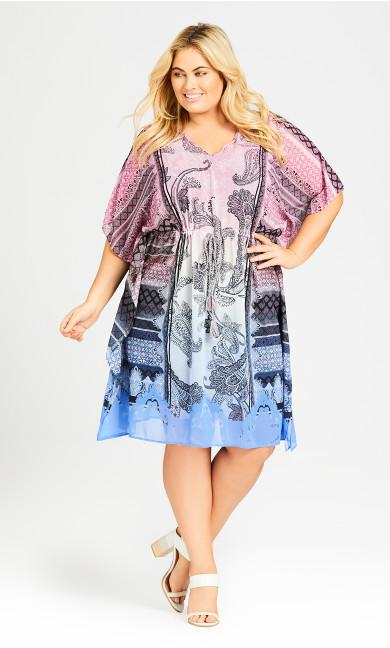 Plus Size Evelyn Kaftan Dress - rose