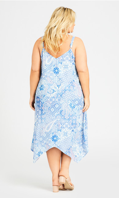 Abigail Trapeze Dress - blue