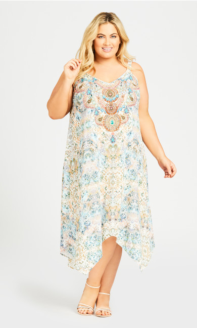 Plus Size Abigail Trapeze Dress - ivory