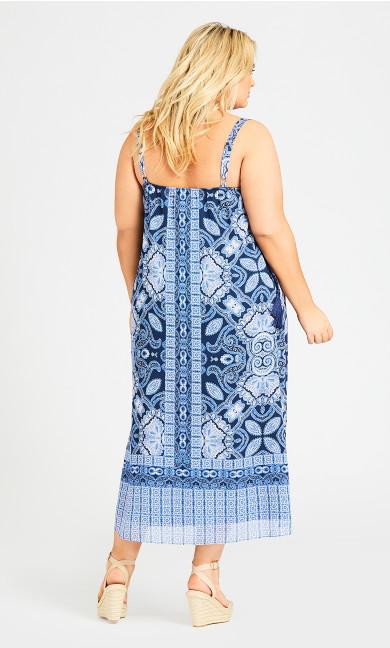 Emily Beaded Dress - blue