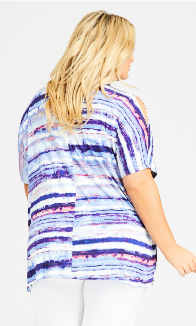 Nova Pleat Top - blue