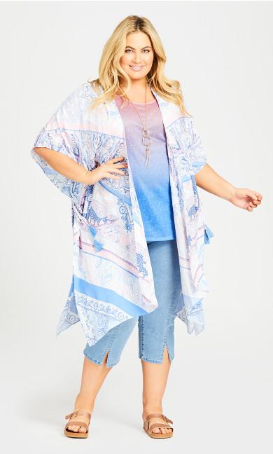 Plus Size Hannah Kimono - sky