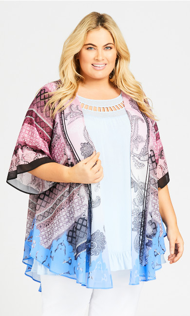 Plus Size Stella Kimono - pink