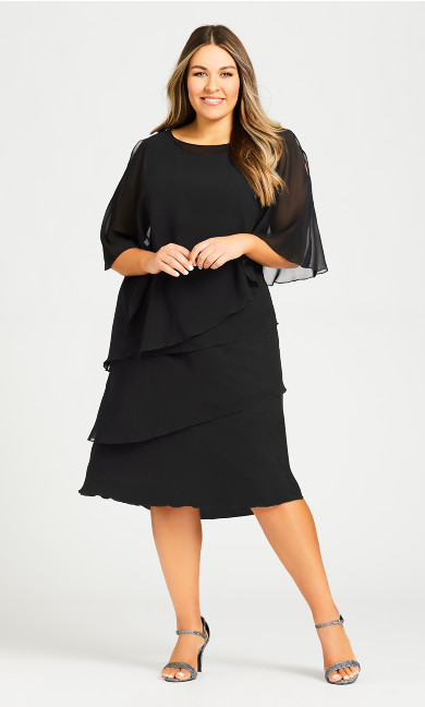 Plus Size Lyla Overlay Dress - black