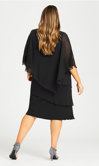 Lyla Overlay Dress - black