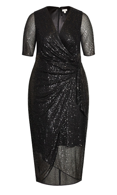 Naomi Sequin Dress - black