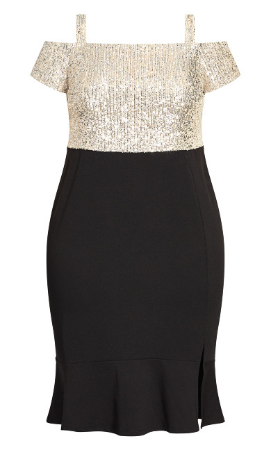 Maci Sequin Dress - champagne