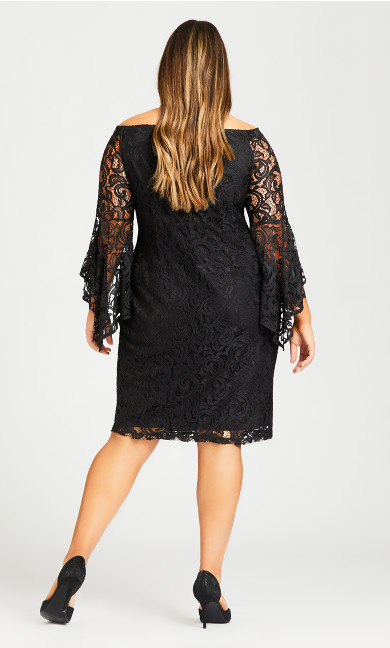 Paris Lace Dress - black