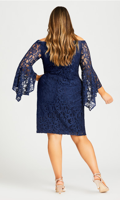 Paris Lace Dress - blue