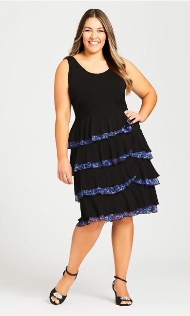 Plus Size Mariana Tiered Dress - midnight