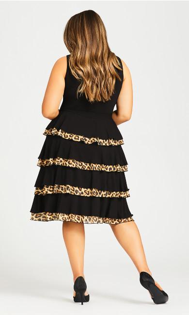 Mariana Tiered Dress - black