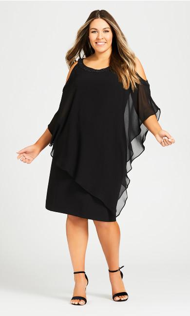 Plus Size Alani Beaded Dress - black