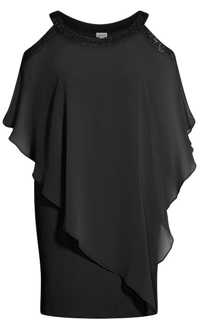Alani Beaded Dress - black