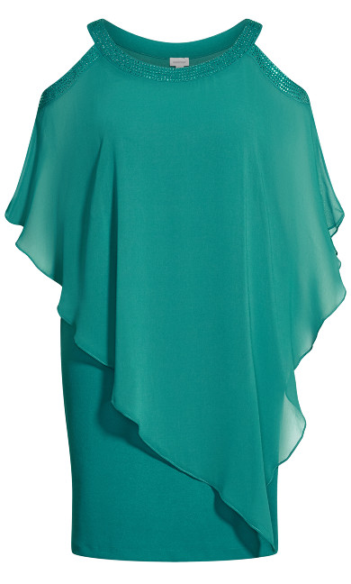 Alani Beaded Dress - teal