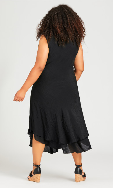 Bias Lace Dress - black