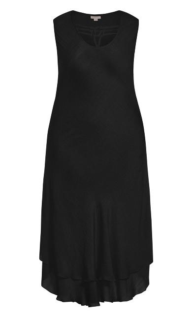 Bias Lace Dress - black
