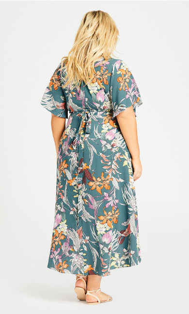 Viv Wrap Maxi Dress - sage