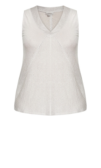 Inverted Vee Top - charcoal