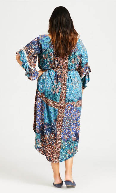 Shirred Smock Dress - teal