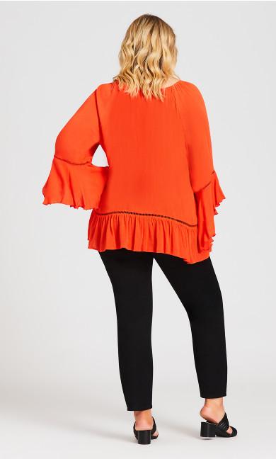 Sleeve Detail Tunic - pumpkin