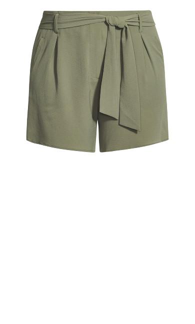 Tie Waist Short - olive
