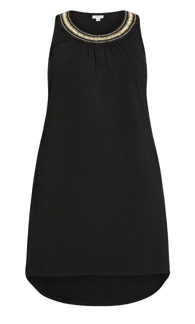 Beaded Dress - black