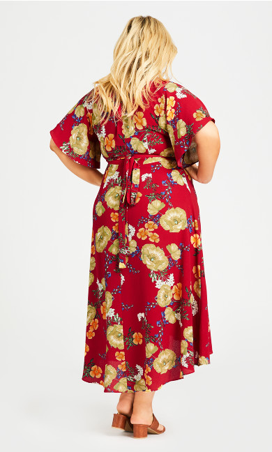 Viv Wrap Maxi Dress - scarlet