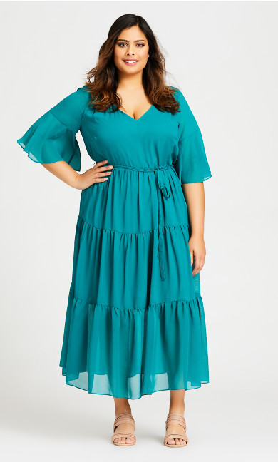 Plus Size Pippa Maxi Dress - jade